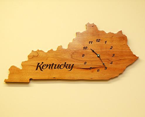Kentucky-Shaped-Wall-Clock