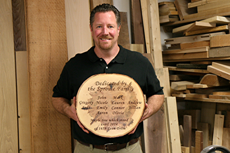 Live Edge Wall Plaque Dedication