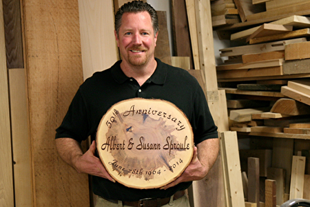 Live Edge Wall Commemoration Plaque