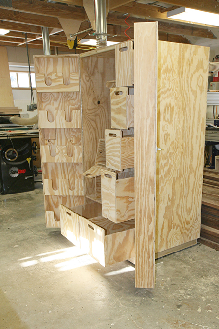 Equestrian tack armoire gathering wood for Tack cabinet plans