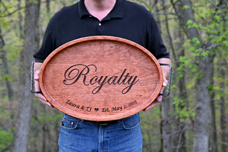 Royalty Custom Personalized Oval Serving Tray copy