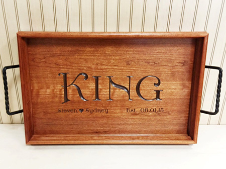 Serving Tray fit for a King copy