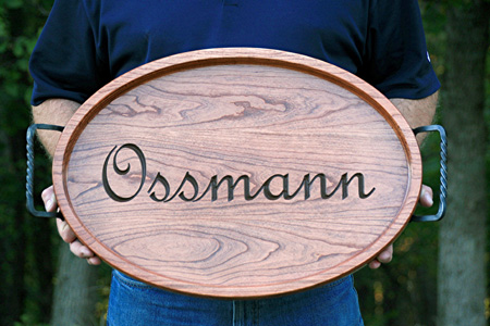 Personalized Oval Serving Tray
